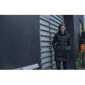 Alchemy W's Laminated Wool Blend Down Coat Black Marle